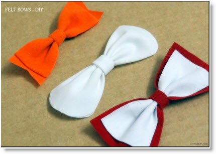 felt bow tie template - different types of felt bows diy felting