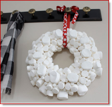 Marshmallow Wreath