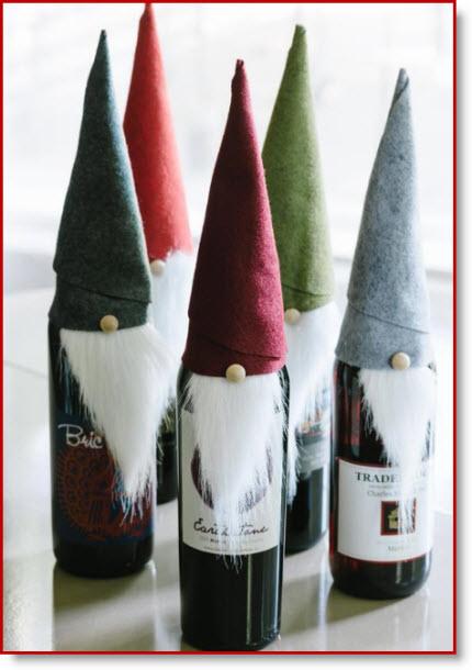 Christmas Elf Felt Wine Bottle Covers Instructions Felting