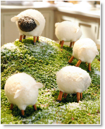 needle-felted sheep