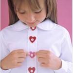 Felt Heart Button Covers