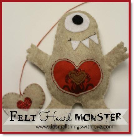 Felt Heart Monster