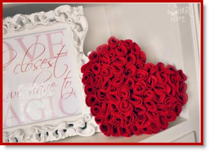 Felt Rose Heart Tutorial