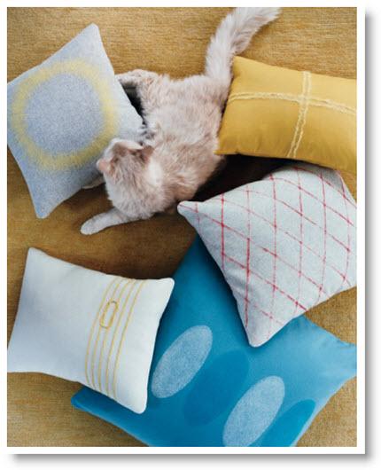 Neede felted pillows