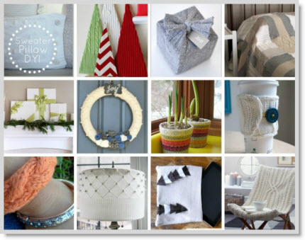 12 Ways to Use Old Sweaters {project inspiration}