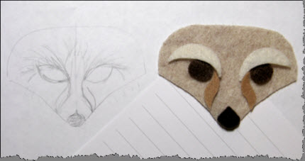felt fox face
