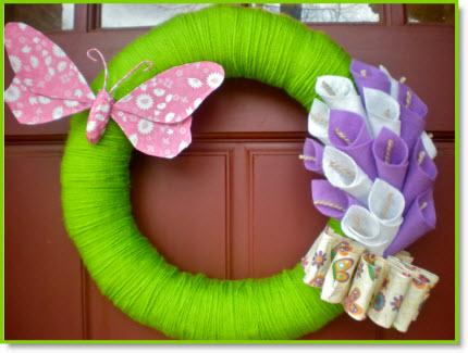 An Easter Felt Calla Lilly Wreath Tutorial
