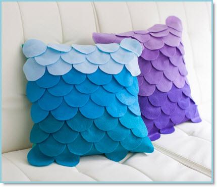 Scalloped Ombre Pillows