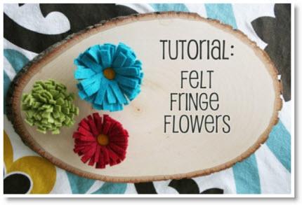 Tutorial Felt Fringe Flowers