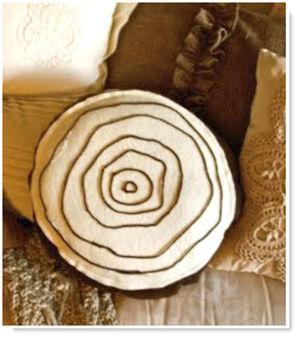 (Tutorial) Tree Circles Pillow