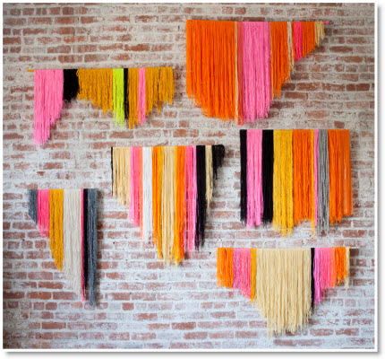Yarn Banner wall art