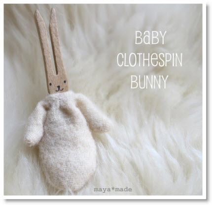 baby clothespin bunny