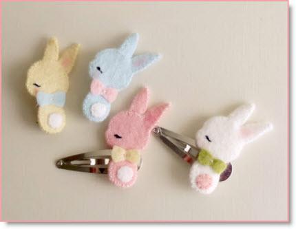 bunny hair clip