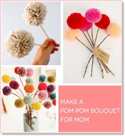 A Pom Pom Bouquet