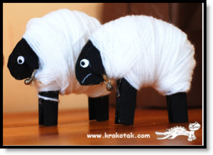 Clothespin LAMBS tutorial