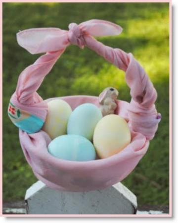 How to fold a Furoshiki Easter Basket tutorial
