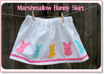 marshmallow bunny skirt