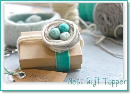 nest gift topper