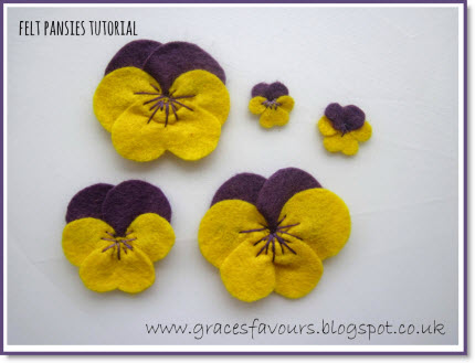 How To Make A Felt Diy Pansy Flower Bookmark Tutorial Felting