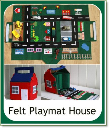 Felt Playmat House