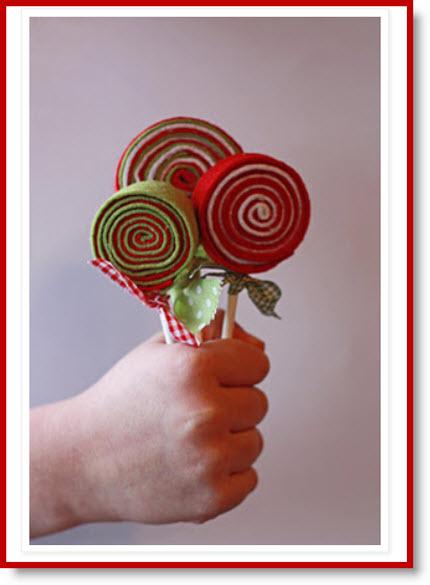 No Sew Felt Lollipops tutorial
