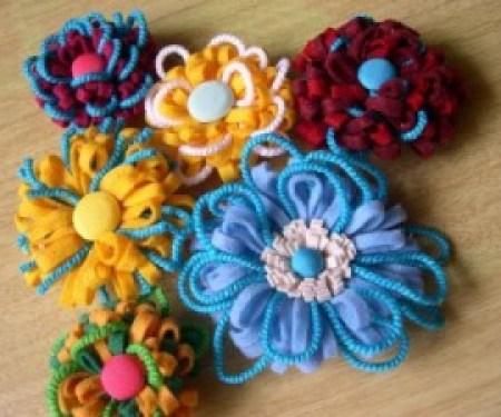 Feltflowerpins