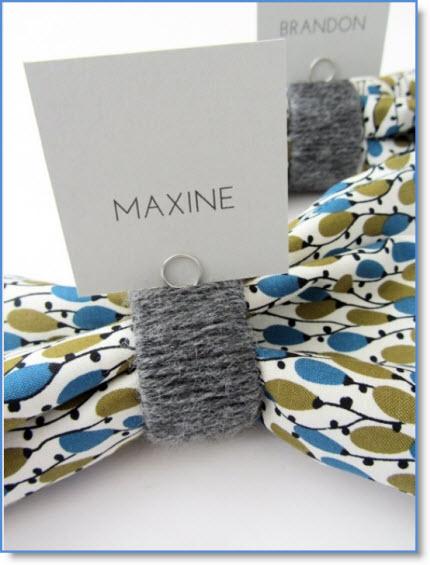 DIY Yarn Napkin Rings