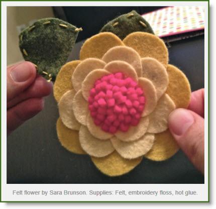 felt flower DIY
