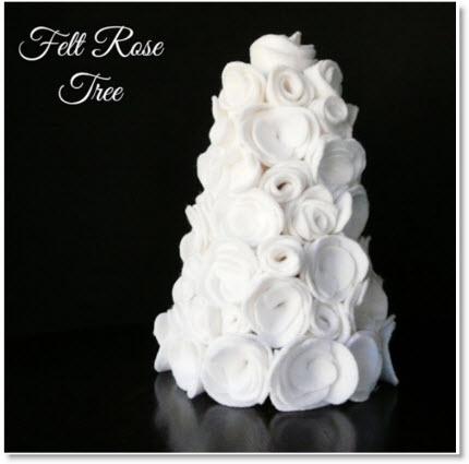 felt rose tree