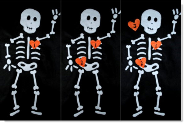 Pin The heart on the Skeleton