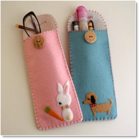 Free pencil case and glass case pattern!