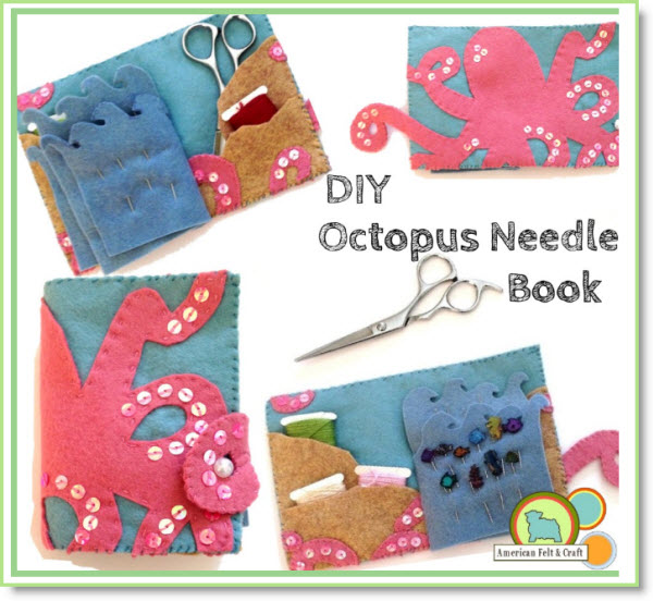 Felt Octopus Needlebook