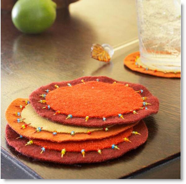 Harvest-Color Felt Coasters