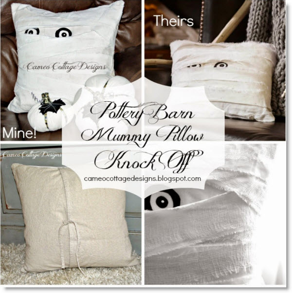 Pottery Barn Mummy Decorative Pillow Knock Off