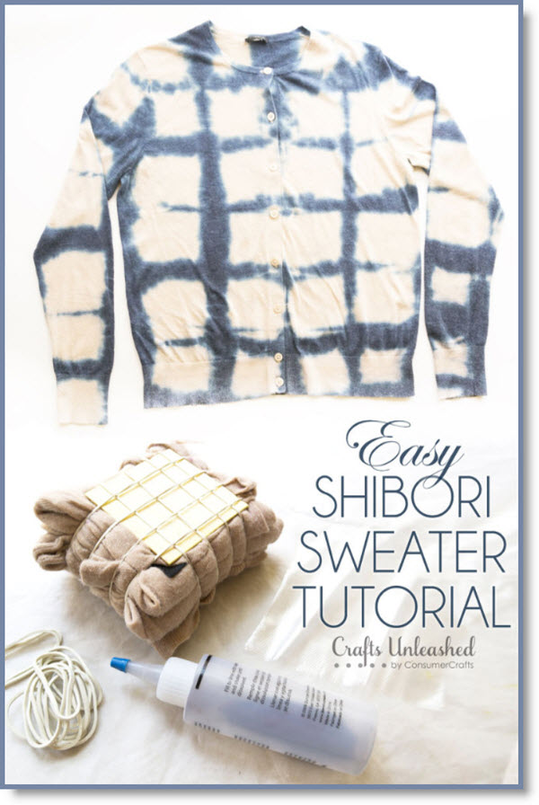 Shibori Tie-Dye Sweater