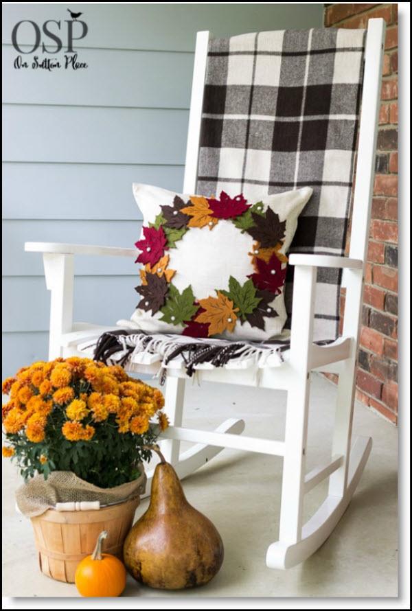Fall Wreath Pillow