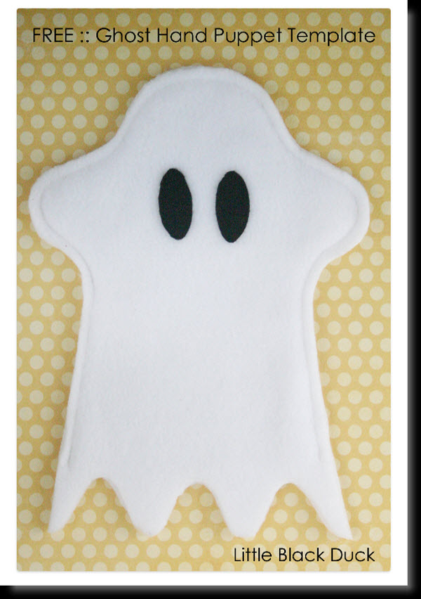 Ghost-Hand-Puppet October Newsletter Templates on printable downloadable, free downloadable preschool,