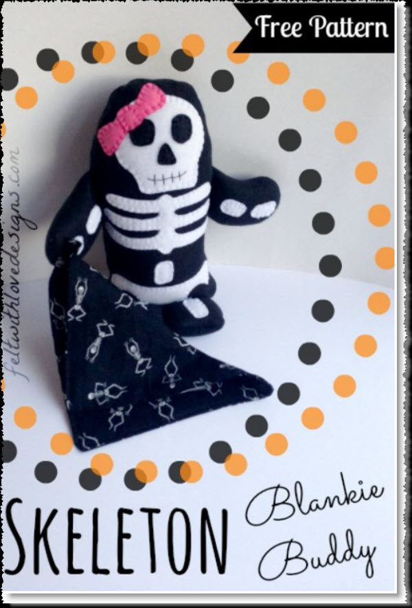 Skeleton Blankie Buddy Pattern
