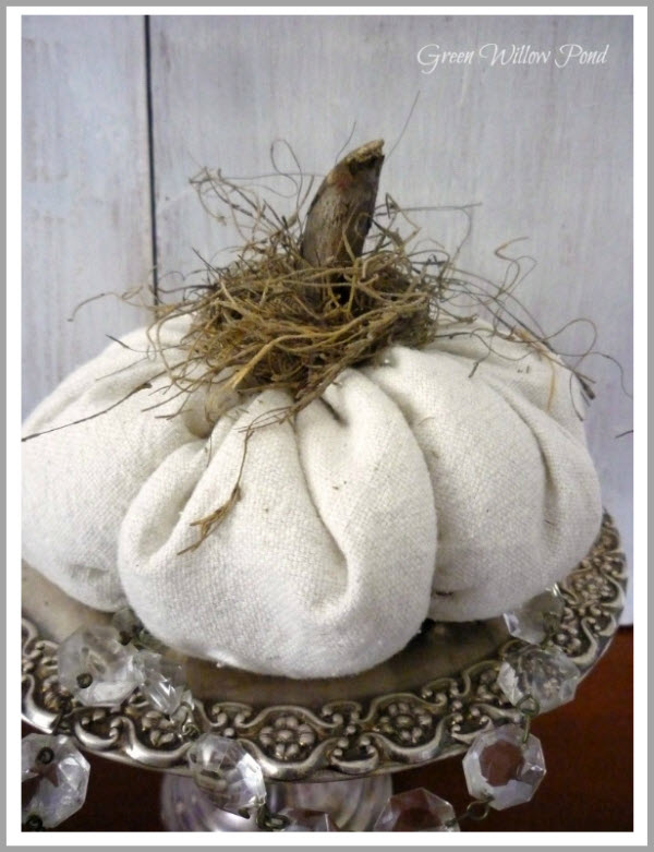 drop cloth pumpkin