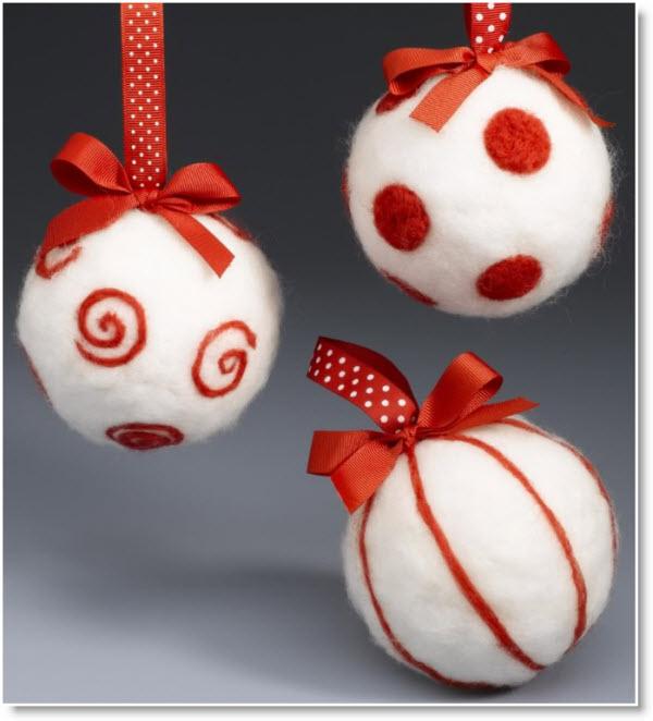 Needle Felting Ornaments