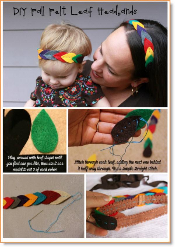 Create DIY Fall Felt Leaf Headbands for Girls & Mamas tutorial