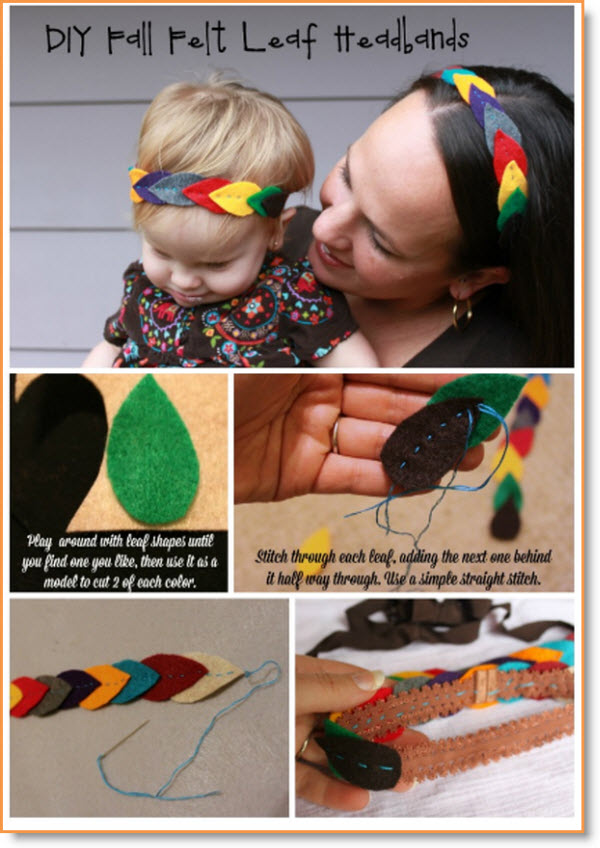 felt leaf headbands