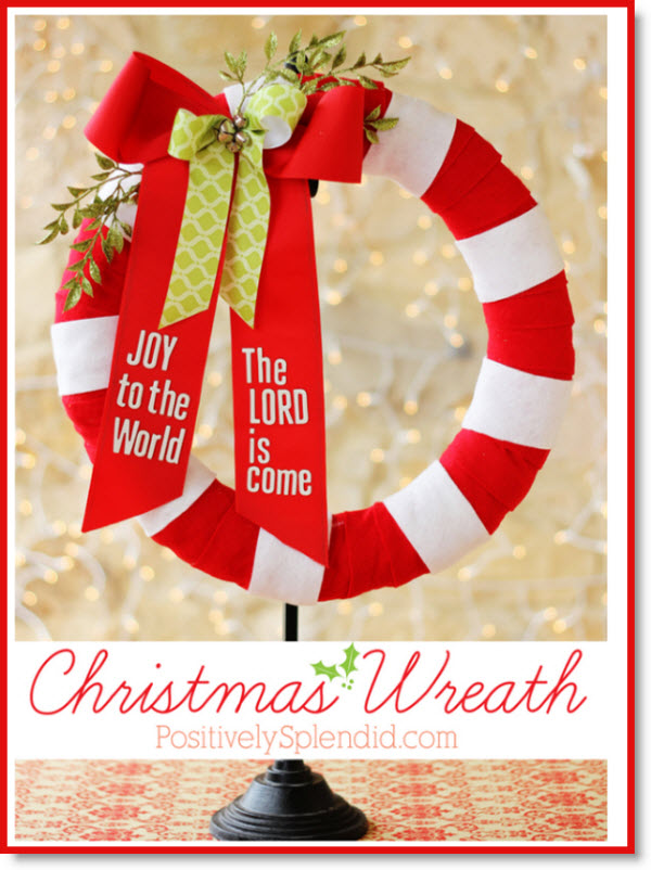 Joy to the World Christmas Wreath Tutorial