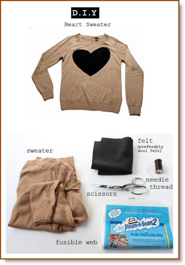 DIY: J.Crew Heart Sweater