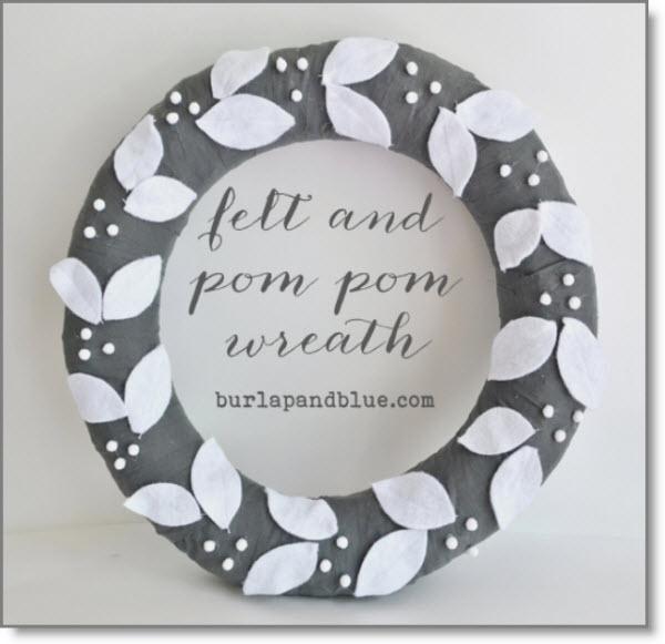 felt and pom pom wreath {a tutorial}