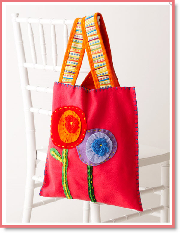 easy felt tote bag
