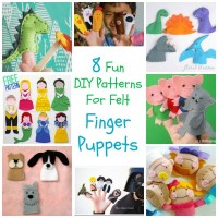 8 Fun DIY Patterns For Felt Finger Puppets