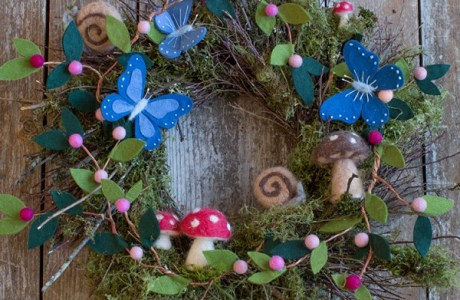 Felt Woodlands Christmas Wreath