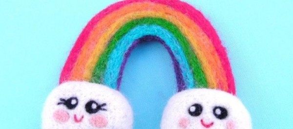 Adorable Felted Rainbow Tutorial