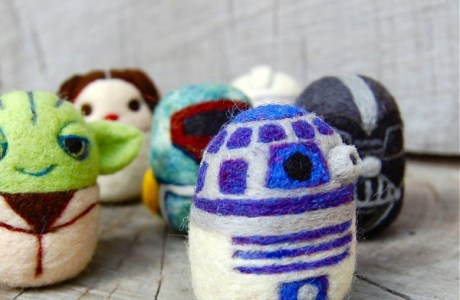 Star Wars Felted Eggs